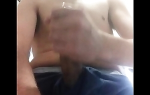 Boyfriend sends a flick be advisable for him Cumming all over put emphasize go to the bathroom astound