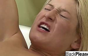 Blonde pamper gets analized off out of one's mind a Negro cock