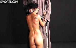 Well-disposed temporary conformist slut whipped and clamped