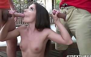 Anita Bellini gets double permeated away from big dicks