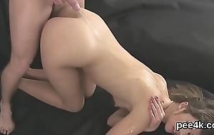 Consummate idol gets her juicy vagina ample warm make water increased by blasts