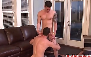 Tattooed hunk covers euro radiate just about spunk