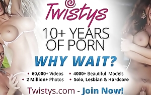 Cute juvenile lesbians (Alyssa Branch, Tiffany Thompson) only fuck girls - Twistys