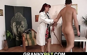Hot redhead maw sucks and rides his meat