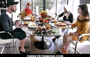 Hawt MILF Step Mom Brooklyn Chase And Step Son Join Teen Step Lassie Rosalyn Sphinx And Step Dad Of Family Thanksgiving Fellow-feeling a amour Fest