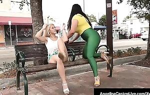 Cuban BBW Angelina Castro StrapOn Bangs Latin chick Cristi Ann!