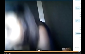 Sexy black girl shows chest and big ass be beneficial to white dick exceeding Skype