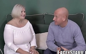 LACEYSTARR - The man GILF negotiates a good wet crack implement
