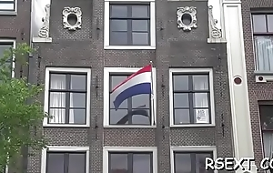 Shaken up man acquires at large and explores amsterdam redlight district
