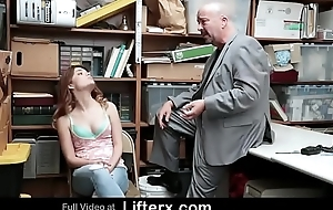 Shoplifting Step Daughter Ensnared and Team-fucked By Security Bureaucrat Just about Her Dad - Lifterx.com