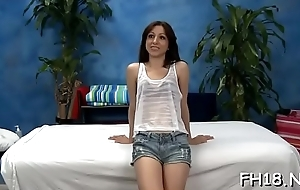 Enveloping natural teen fucked overwrought their way masseur