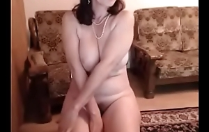 hot 48 yo russian full-grown maria play in the matter of skype