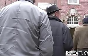 Hot downcast amsterdam hooker gets the brush bald vagina pounded hard