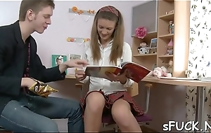 Perturbed teen bitch decided to be hung up on her friend be advisable for studying