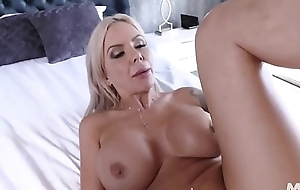 Milf got a Herculean creampie for her feathery pussy.
