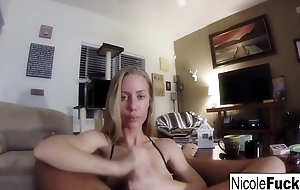 Home dusting of Nicole Aniston giving a POV Maximally Job