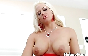 Busty femdom Holly Constituent strapon sexual congress