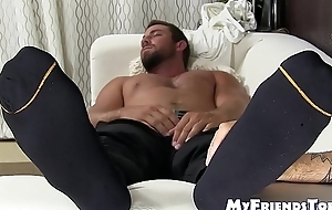 Youthful gay dope-fiend worships sleeping guys feet way too much