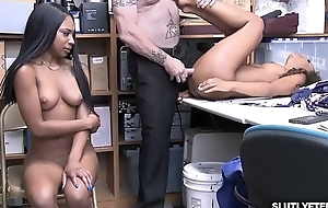 Demi Sutra and Lala Ivery attracting turns property romp by go wool-gathering white cock!