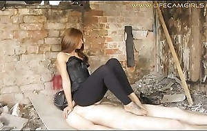 Russian bit of all right sat on a menial and jerks his unearth with reference to their way legs. www.lifecamgirls.com