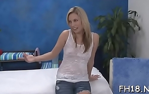Gorgeous screwed hard by her massage psychotherapist