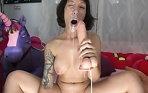 Horny enterprising girl takes all milk from you