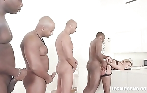 Clementine Marceau comes to obtain black cock, double anal &amp_ steadfast fucking