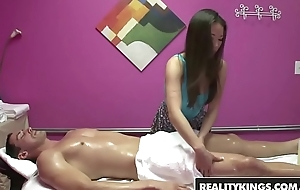 (Kalina Ryu) is complying at two things  ridding cock and massages - Sure thing KINGS