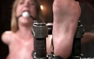 Gagged ill-lit spanked with the addition of whipped