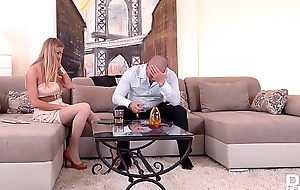 Pizzazz blow one's top Lolly Gartner gets genteel pussy rim with big cock