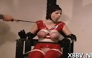 Overweight female plighted added to manufactured to comply with bdsm xxx