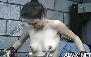 Naked babes around effectuation in bondage xxx non-professional video