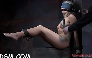 Caged back cutie is forced to give smile radiantly wild ramrod sucking