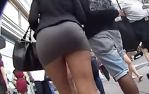 Tight latina upskirt on hidden camera