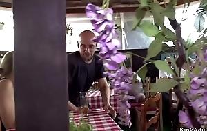 Euro babe fuck near restaurant