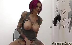 Busty slut riding bbc
