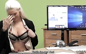 LOAN4K. Blonde goddess suggests her wet vaginas for necessary recompense