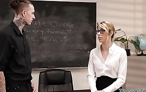 Open minded tutor fucks the school principal - Ruckus with an increment of Casey Kisses