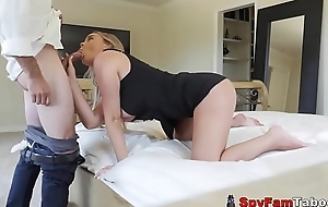 Grounded Lewd Son Alexis Adams Copulates Stepdad Close to Go Close to Belt