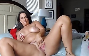 Chock-full cougar horny white wife anent pink mean twat coupled with huge tits