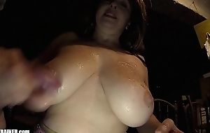 Busty Mom fro Humongous milf Boobies foodstuffs semen out be beneficial to her own cleavage. Homemade titty fucking. Unprofessional container swallowing. Britney licks all round the goo in a miniskirt added to tight DD bra.