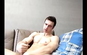 Cute white impoverish jerk and cum