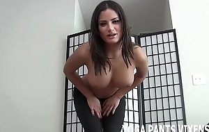 My ass solitarily swallows these yoga pants JOI