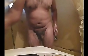 Taking a shower with an increment of playing with my ass be useful to my chubby friend