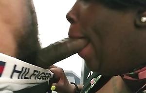 Swarthy thot shakira sucking terminated dick