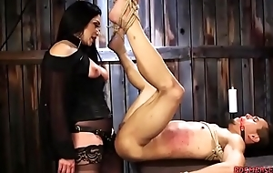 Sexy Blooper Pegging Say no to Slave Boy