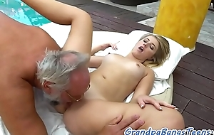 18yo beauty plowed hard by a the dirty senior