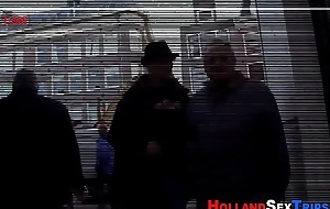 Real hooker copulates elderly man