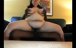 Interracial Self Film over BBW