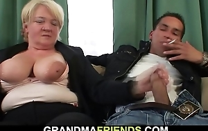 Four pal with fuck soused blonde granny alien both ends